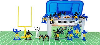 Kaskey Kids Football Guys – Blue & Yellow/Black & Gold Inspires Kids Imaginations with Endless Hours of Creative, Open-Ended Play – Includes 2 Teams & Accessories – 28 Pieces in Every Set!