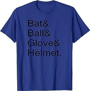 Bat Ball Glove & Helmet Baseball Fastpitch Softball T-Shirt