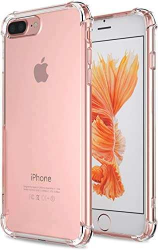 Matone for iPhone 7 Plus Case, for iPhone 8 Plus Case, Crystal Clear Shock Absorption Technology Bumper Soft TPU Cove...