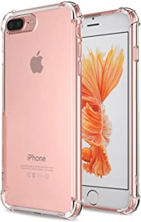 for iPhone 7 Plus Case, for iPhone 8 Plus Case, Matone Crystal Clear Shock Absorption Technology Bumper Soft TPU Cover Case for iPhone 7 Plus (2016)/iPhone 8 Plus (2017) - Clear