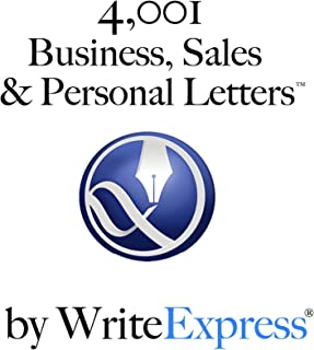 4,001 Business, Sales & Personal Letters by WriteExpress: Stuck writing? You will love these letter-writing templates.