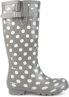 Womens Mizzle Rubber Patterned Rain Boots