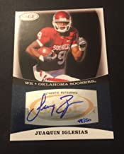 Juaquin Iglesias Oklahoma Bears 2009 SAGE Signed Auth Autograph Certified JG7