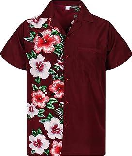 V.H.O Funky Hawaiian Shirt Men Short-Sleeve Front-Pocket Wedding Chic Multiple Colors