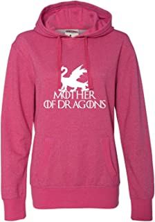 Womens Mother of Dragons Glitter Hoodie