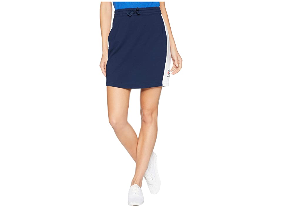 Reebok Activchill Jersey Skirt (Collegiate Navy/White) Women