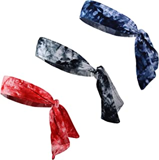Tie Back Headbands Moisture Wicking Athletic Sports Head Band You Pick Colors