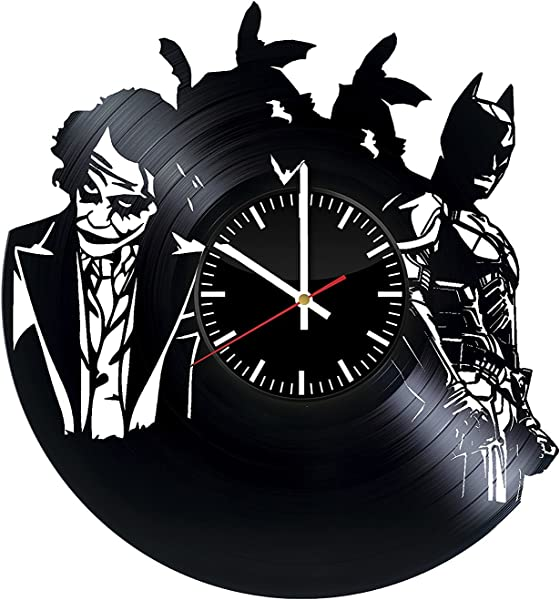 Welcome Everyday Arts Batman Joker Design Vinyl Record Wall Clock Get Unique Bedroom Or Living Room Wall Decor Gift Ideas For Girls And Women DC Comics Unique Modern Art