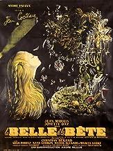France - La Belle et la Bete - (artist: Malcles, Jean Denis c. 1946) - Vintage Advertisement (16x24 Fine Art Giclee Gallery Print, Home Wall Decor Artwork Poster)