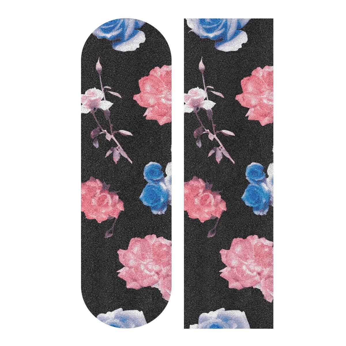 rutschfestes Schleifpapier f/ür Rollbrett abstrakte Linie blasenfrei Skateboard-Griffband wasserdicht 22,9 x 83,8 cm