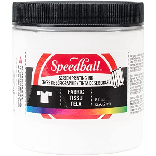Speedball Art Products Fabric Screen Printing Ink 8 Fl. oz. White