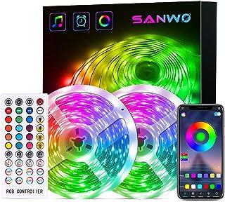 LED Strip Lights - 65.6ft RGB LED Light Strip App Control for Room Lighting, SMD 5050 Color Changing Tape Lights Kits with...