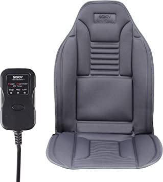 Sojoy Winter Foam Car Seat Cushion with Comfort Foam, Chair Pad for Car, Home,Office in No-Slip Back Cover Gray: image