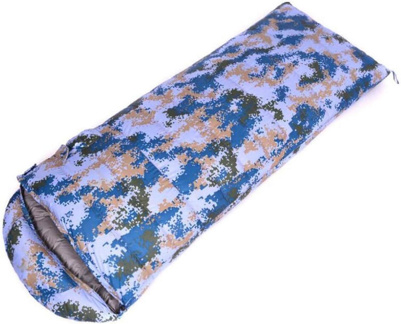 CHENGXIAOXUAN Armee Grünen Camouflage Outdoor-Camping Erwachsener Schlafsack Weie Ente Unten Vier Jahreszeiten Warmer Schlafsack Camping Reiseschlafsack,AirForceCamouflage800g-21080cm