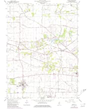 YellowMaps Elburn IL topo map, 1:24000 Scale, 7.5 X 7.5 Minute, Historical, 1964, Updated 1981, 26.9 x 22 in