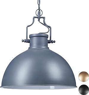 Relaxdays Lampa wisząca industrialny design w stylu shabby chic, dekoracja do jadalni, E27, 230 V lampa wisząca Ø 40,5 cm,...