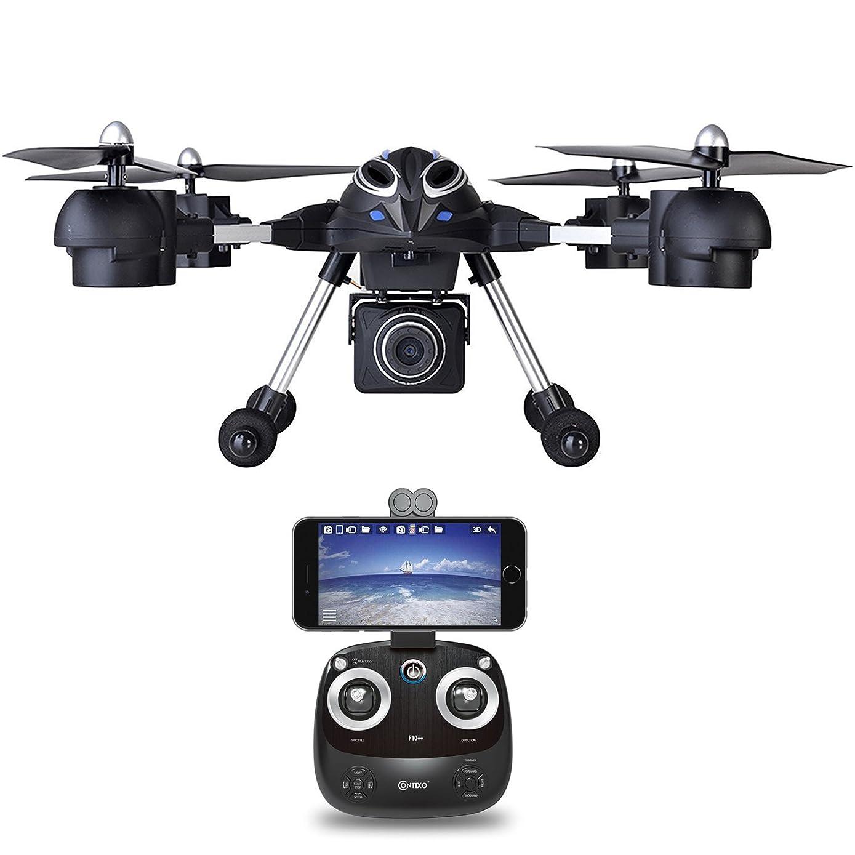 Contixo F10++ RC Remote App Controlled Quadcopter Drone | 720p HD WiFi Live Video Camera FPV Altitude Hold Auto Hover RTH Headless Mode Stunt Drone