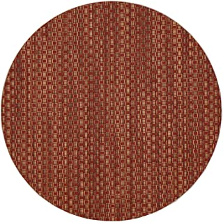 Sweet Pea Linens Redwood (Brick & Tan) Wipeable Charger-Center Round Placemat