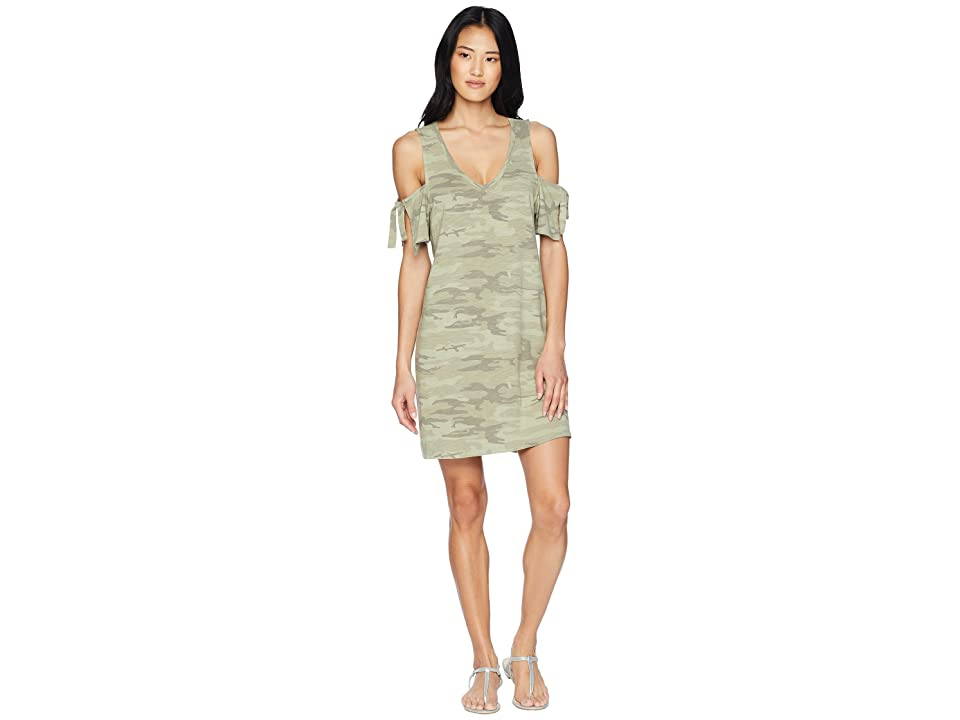 Sanctuary Lakeside Camo T-Shirt Dress (Cadet Camo) Women