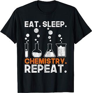 Laboratorio Comer Dormir Química Repetir Ciencia Química Camiseta
