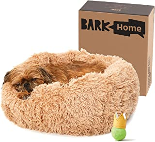 BarkBox Dog Bed, 2-in-1 Memory Foam Donut Cuddler Dog and Cat Bed, Calming Orthopedic Joint Relief Fur Crate Lounger for P...