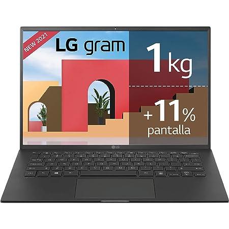 "LG - 14Z90P - Portátil ultraligero 14"" WUXGA (Intel EvoTM i7 11ª Generación, 16GB RAM, 1TB SSD, Iris Xe Graphics, Windows 10 Home) - Teclado QWERTY Español, Negro"