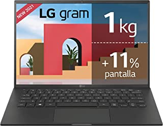 "LG - 14Z90P - Portátil ultraligero 14"" WUXGA (Intel EvoTM i7 11ª Generación, 16GB RAM, 1TB SSD, Iris Xe Graphics, Windows ..."