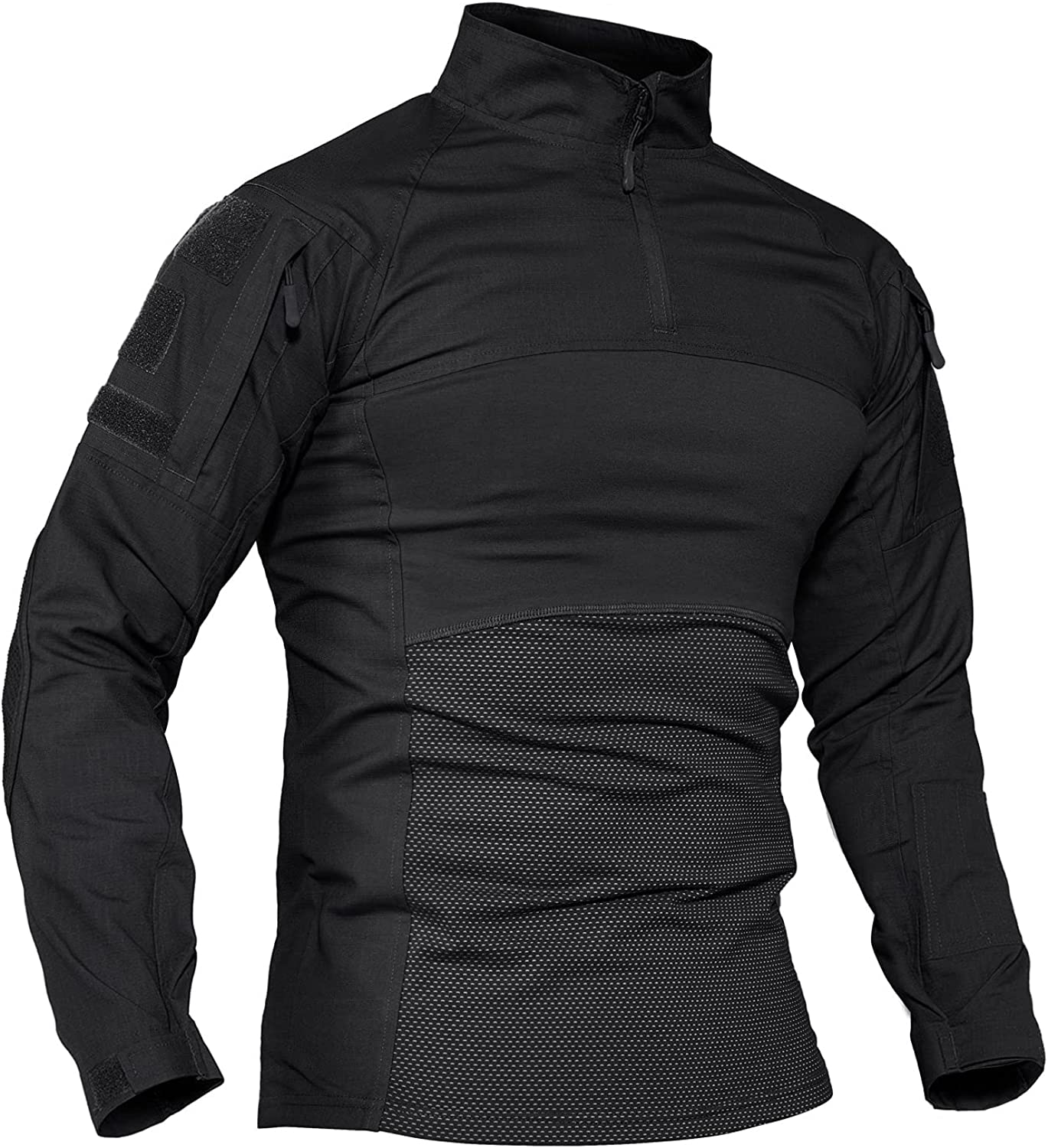TACVASEN Men's Tactical Shirt Limited List price time trial price 1 4 Assault Military Long Zip Top