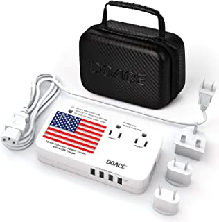 2020 Upgraded X11 2200W Travel Adapter Voltage Converter with 4-Port USB and UK/AU/EU/US Plug Wall Chargers for Hair Dryer...