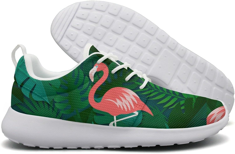 Flamingo And Tropical Leaves Women Flex Mesh Womens Running shoes
