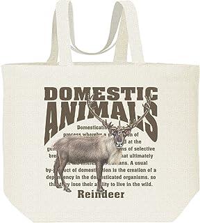 エムワイディエス(MYDS) トナカイ/飼育 動物・家畜/キャンバス L トートバッグ
