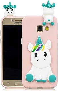 7fd7938423a Leton Funda Samsung Galaxy A5 2017 Silicona Unicornio 3D Suave Flexible TPU  Carcasa Galaxy A520 Ultra
