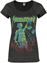 Amplified Womens/Ladies Metallica Justice for All T-Shirt