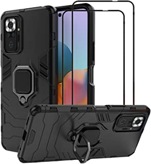 EasyLifeGo for Xiaomi Redmi Note 10 Pro/Redmi Note 10 Pro Max Kickstand Case with Tempered Glass Screen Protector [2 piece...