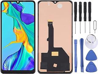 LENASH TFT-materialbyte för Huawei P30 Pro LCD-pekskärmskärm och digitizer Assembly Glaspekskärm Byte med reparationsverktyg