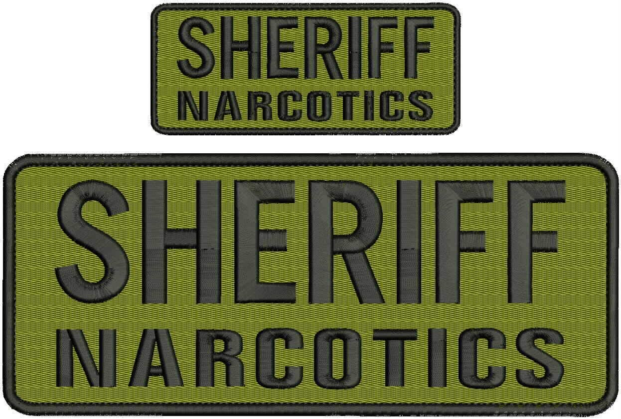 Embroidered Patch Shipping included - Patches for Sheriff Man Narcotics Women At the price of surprise Ho