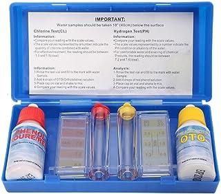 Liamostee 1 Juego de Prueba de Calidad de Agua PH Cloro Kit de Prueba de hidrotool Accesorios para Piscina