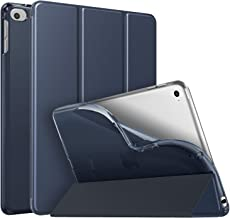 MoKo Case Fit New iPad Mini 5 2019 (5th Generation 7.9 inch), Slim Smart Shell Stand Folio Case with Soft TPU Translucent Frosted Back Cover, Auto Wake/Sleep - Indigo