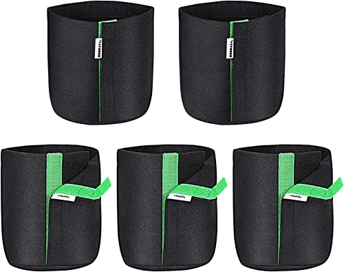 lowest VIVOSUN 5-Pack 1 2021 Gallon Grow Bags, Fabric lowest Pots with Self-Adhesion Sides for Transplanting outlet sale