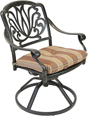 K&B PATIO LD777-11 Elizabeth Rocker Dining Chair with Cushion, Antique Bronze