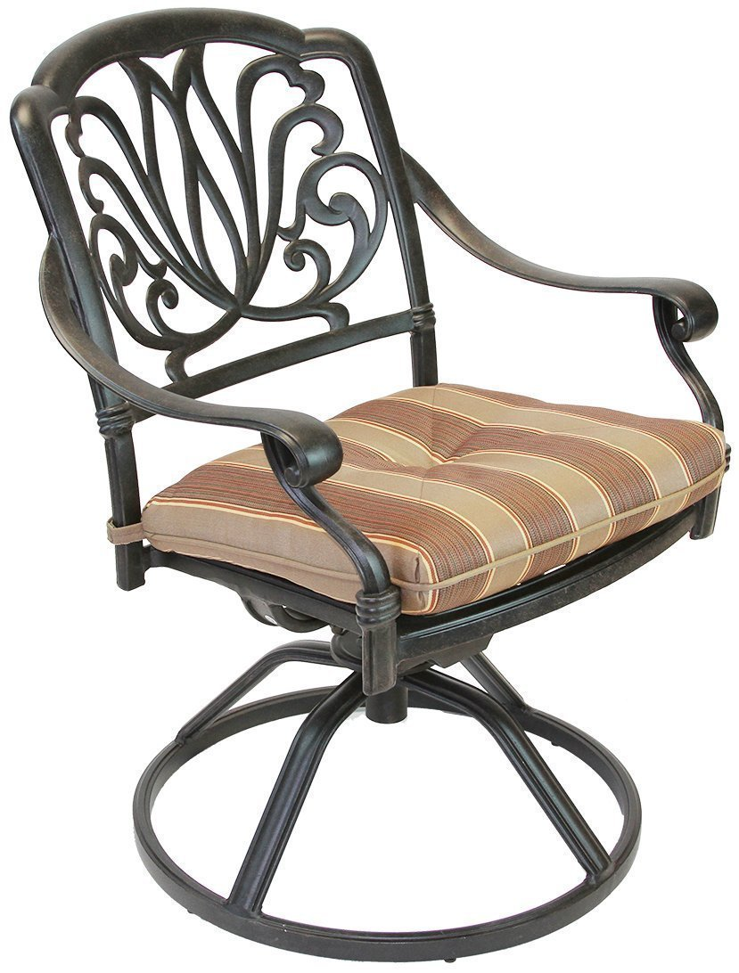K/&B PATIO LD777-27 Elizabeth Bare Bar Stool with Cushion 30 Antique Bronze
