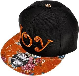 Unisex Adjustable Baseball Cap Word Embroidered Floral Flat Bill Snapback Hat
