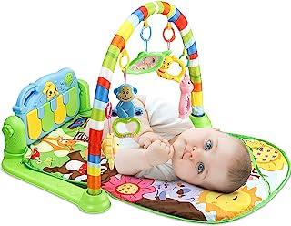 Tapis de jeux et d'éveil pour Bébé, 3 en 1 bébé Piano jouer Gym tapis la musique et lumières Cadeau pour Les Nouveau-nés â...