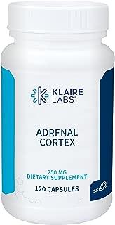 Klaire Labs Adrenal Cortex - 250 Milligrams Natural & Hypoallergenic (120 Capsules)