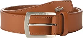 247f10610 Lacoste Perforated Leather Belt w  Roller Buckle at Zappos.com