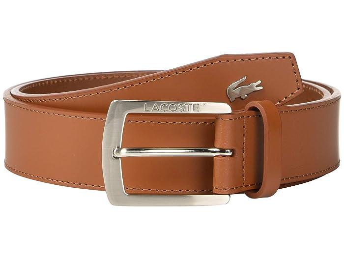 Lacoste Thick Buckle Belt (White/Patisson/Woodpecker) Men
