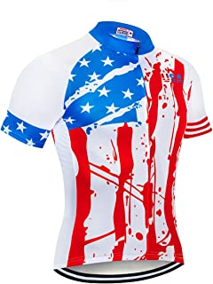 NASHRIO Men's Cycling Jersey Short Sleeve Road Bike Biking Shirt Tops Clothes