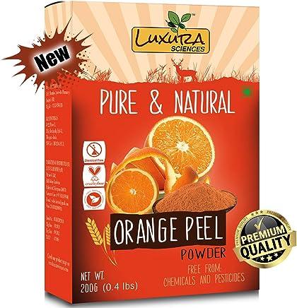 Luxura Sciences® Pure Vitamin C Orange Peel Powder For Skin Whitening 200 Grams.(Santra Chilka)