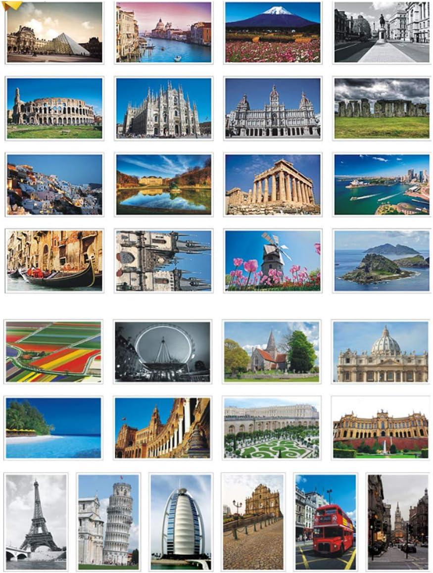 Modern Sky Blue Postcards Set of 20