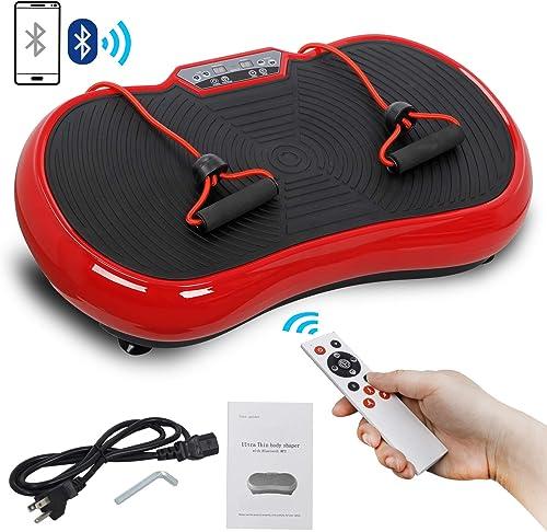 SUPER DEAL Pro Vibration Plate Exercise Machine - Whole Body Workout Vibration Fitness Platform Fit Massage Workout T...